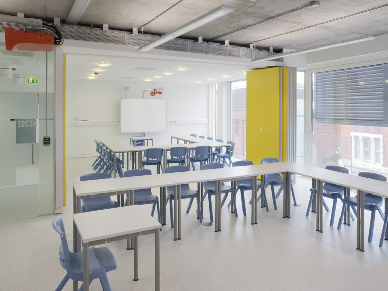 Classroom seating, moving wall at College of North West London